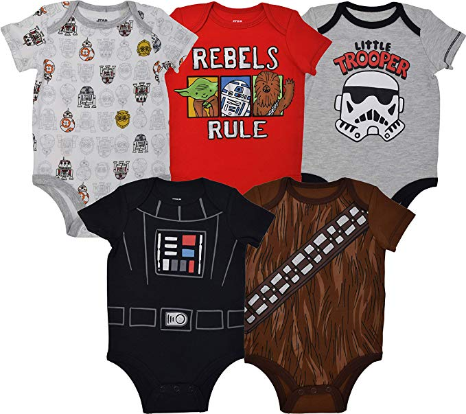 the cutest disney baby gift ideas for him or her boy or girl rebels storm trooper vader wookie chewbacca