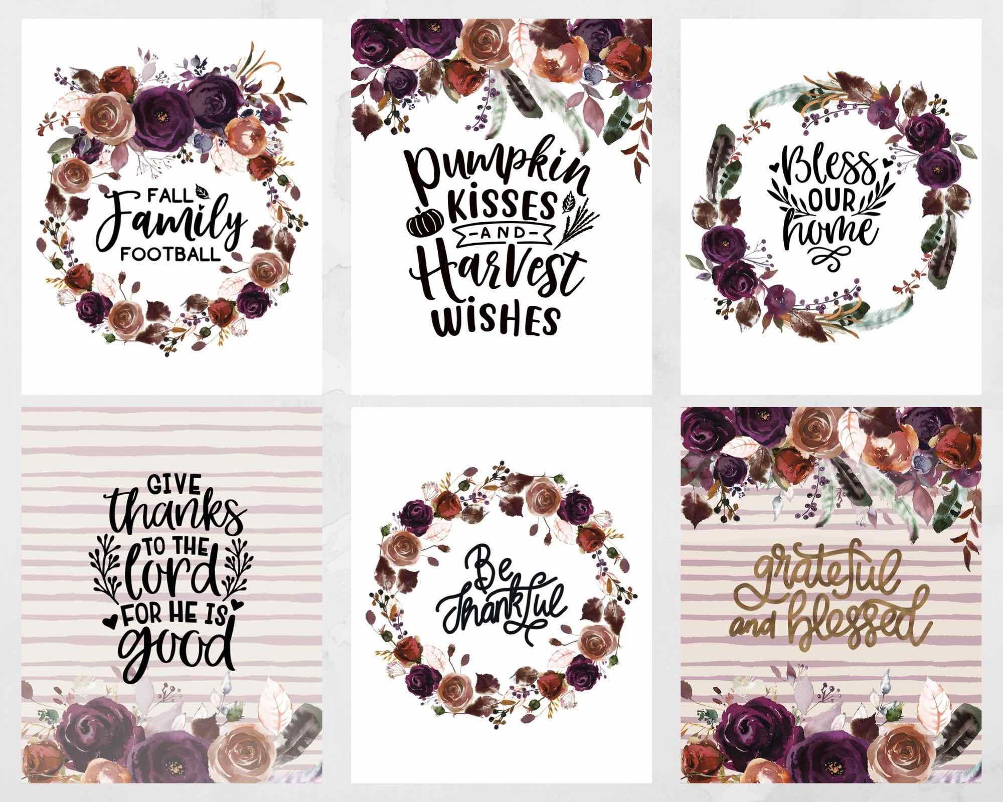 free floral art printables