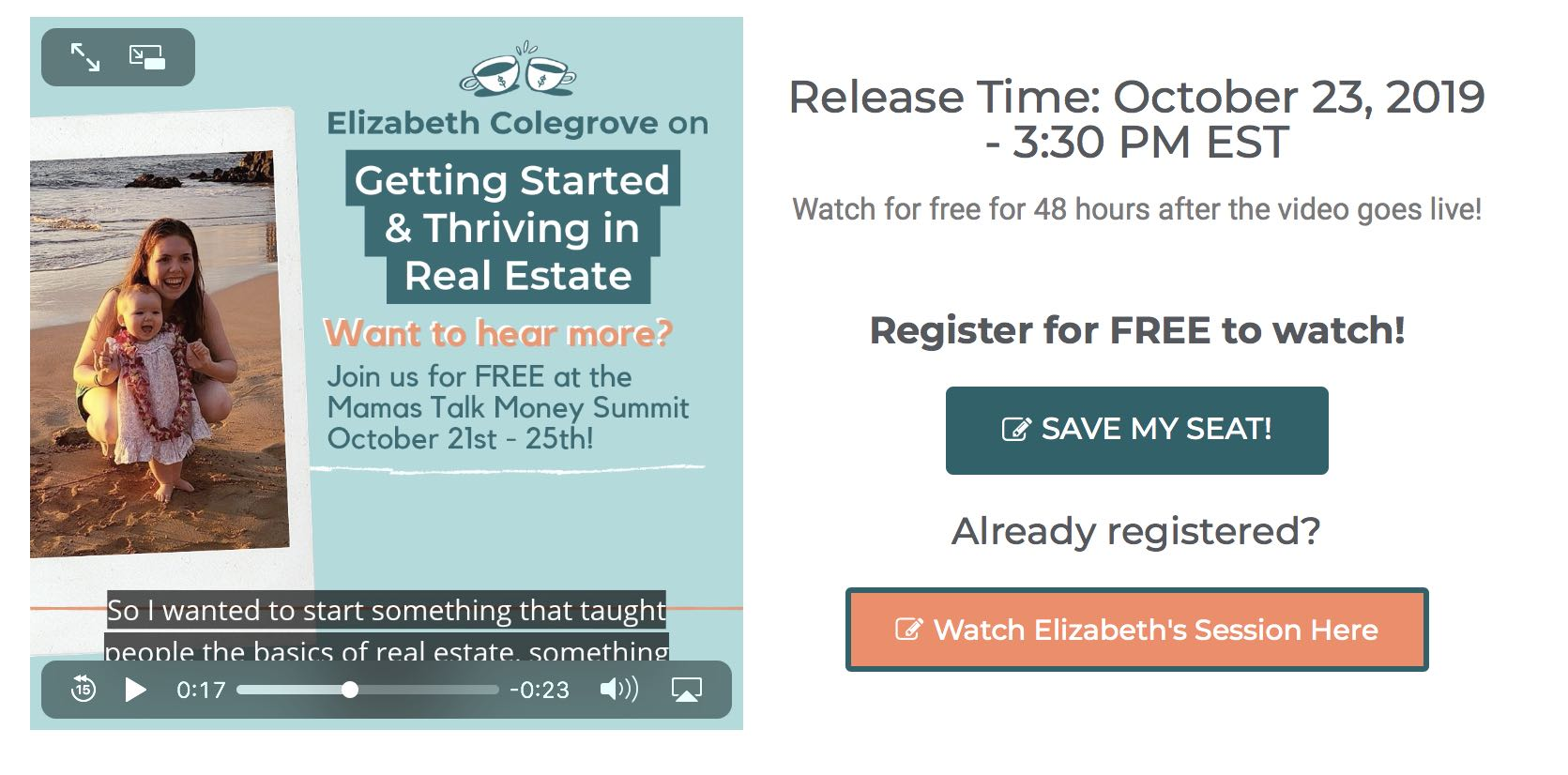 real estate lesson virtual summit