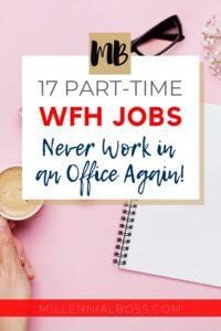 part time wfh jobs pin