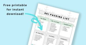 free printable instant download packing