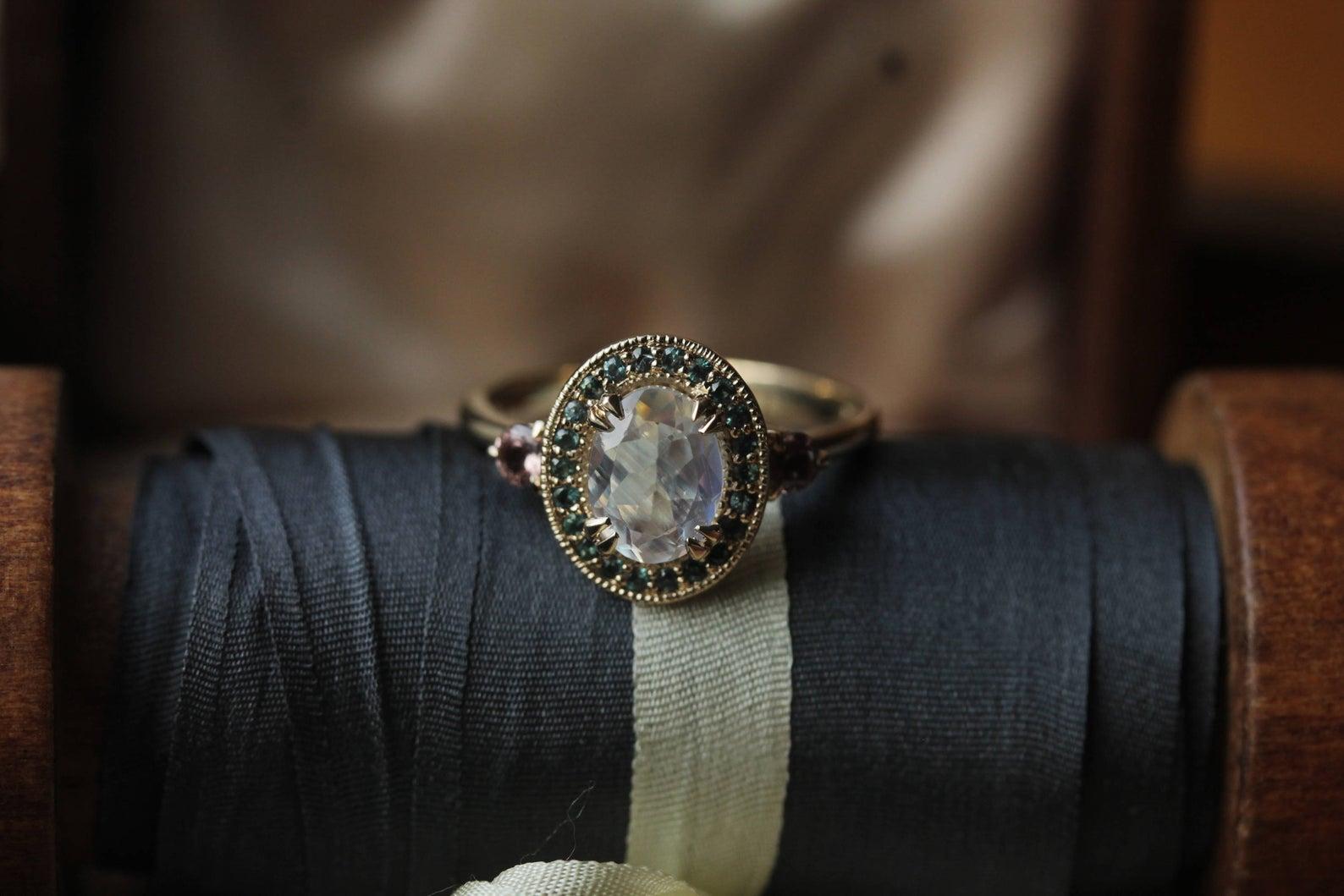 alternative engagement ring antique
