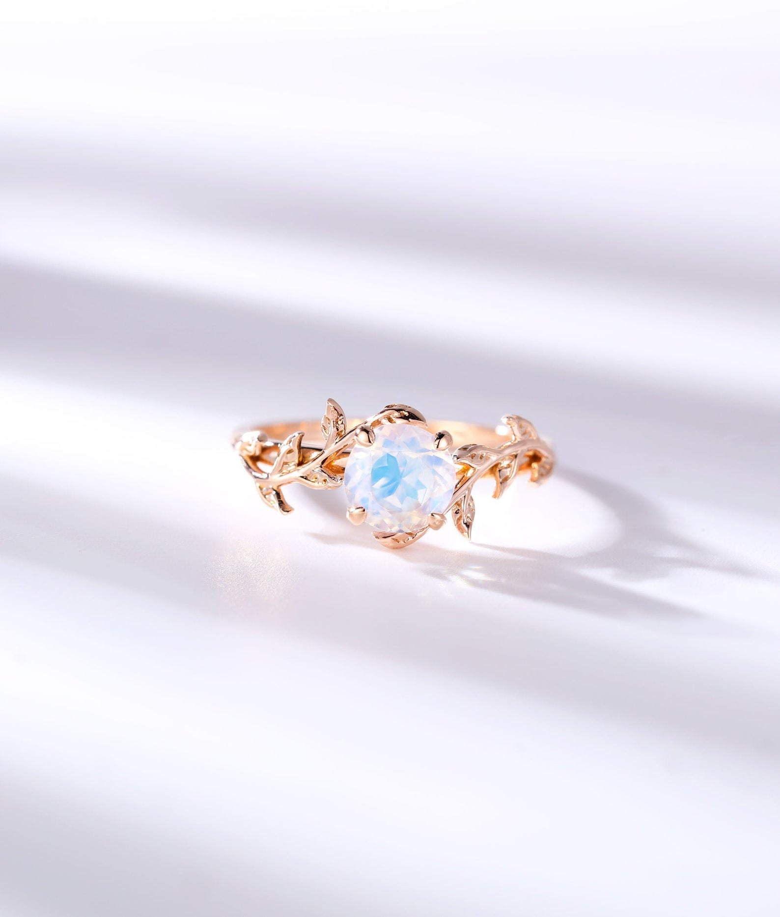 alternative engagement ring moonstone
