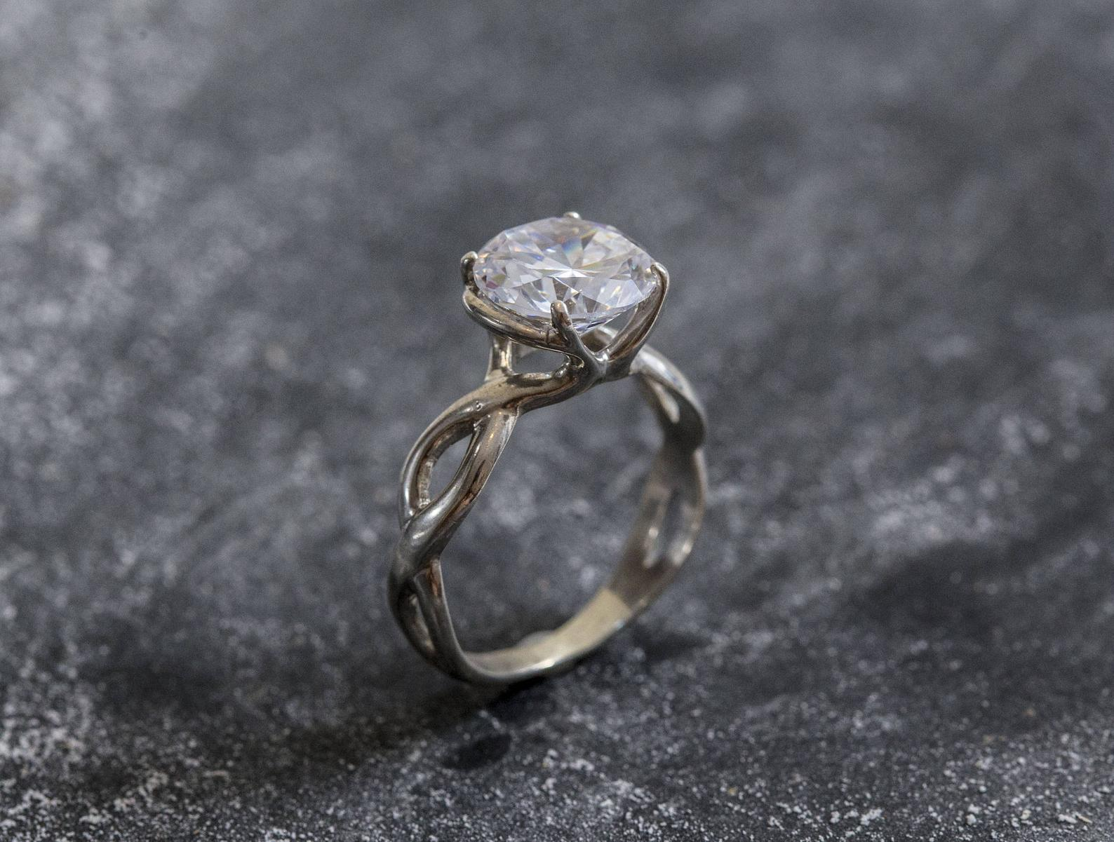 alternative engagement ring silver