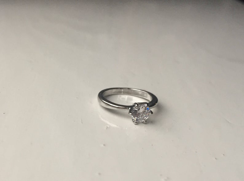 alternative engagement ring solitaire