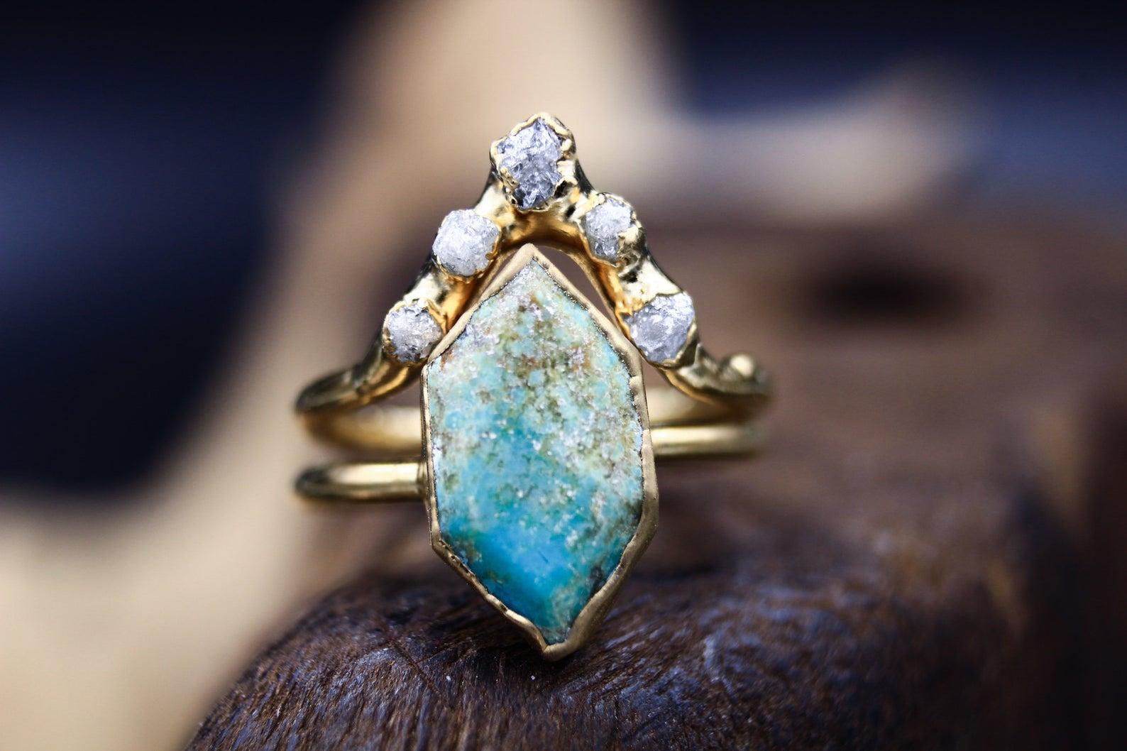 alternative engagement ring turquoise