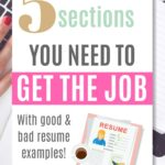 resume sections