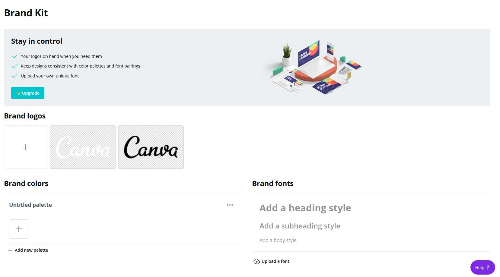 canva pro brand kit manager