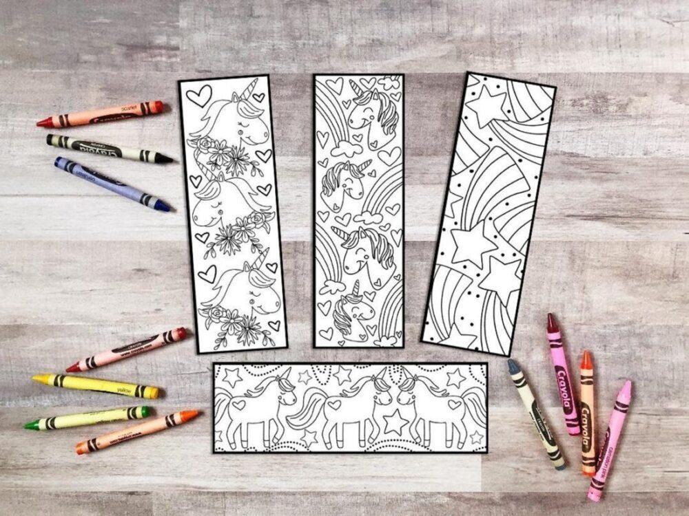 unicorn coloring printables