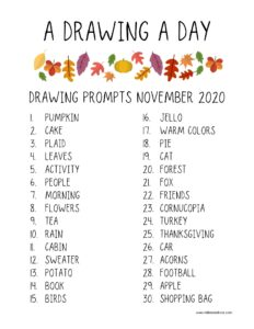 drawing prompt november 2020