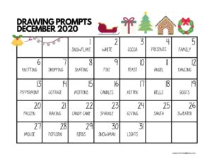drawing prompts december 2020