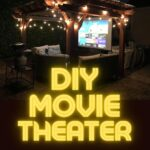 diy backyard projector pinterest