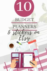 budget planner and stickers