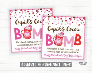 hot chocolate cocoa bombs marks Cupid Valentine's Day
