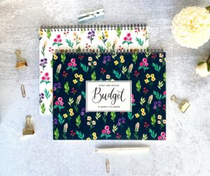 flower budget planner physical finances 2021 expenses tracking