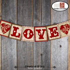 valentines day love banner printables last minute gifts