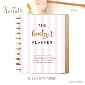 Budget planner printable monthly weekly yearly downloadable 2021 etsy savings expenses