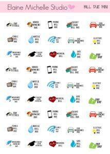 mini stickers budget planner finances savings expenses