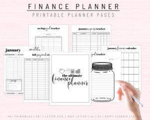 printable downloadable monthly annual budget planner finances savings expenses
