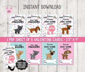 dog valentines day cards printable last minute gifts