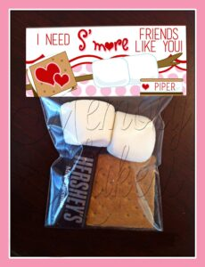 smore treat valentines day printable last minute gift