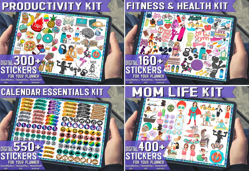 Ultimate collection of digital stickers weekly planner digital planner tablet phone for download etsy 2021
